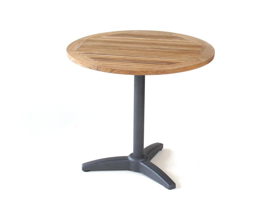 Bistro Tisch - rund, Teak - Erhart Gartenmöbel
